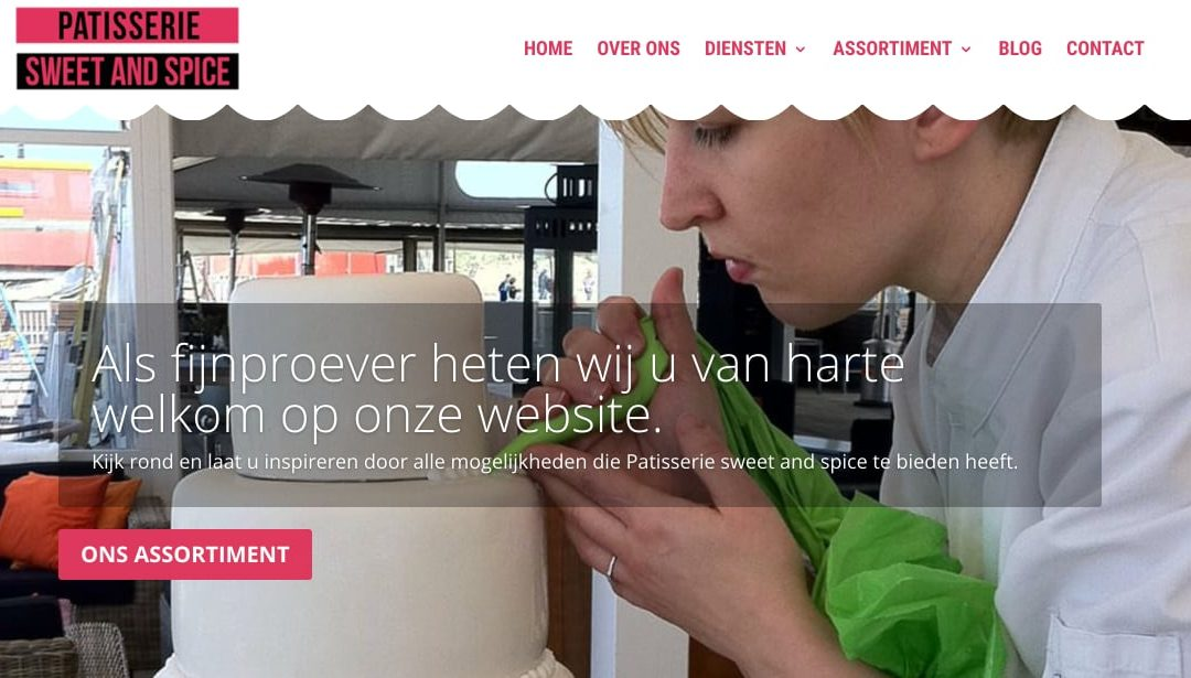 WordPress website voor Patisserie Sweet and Spice